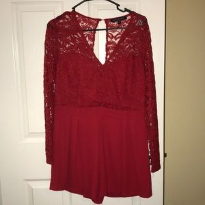 Red Romper || Large